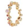 Geelgouden ring met kleursteentjes