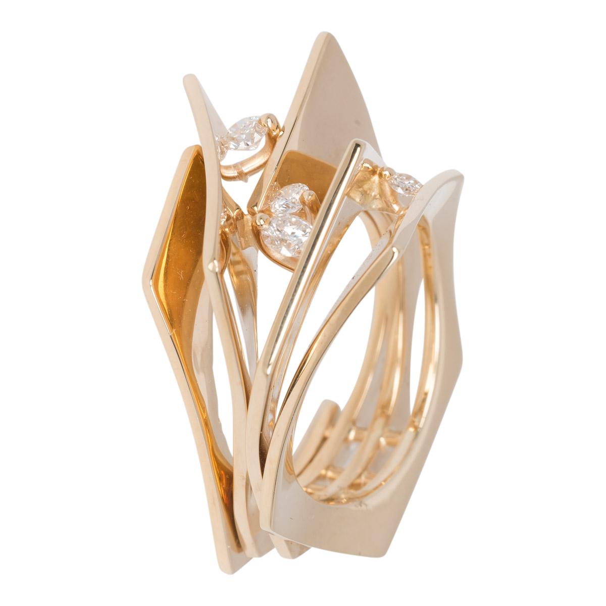 Geelgouden ring met briljanten