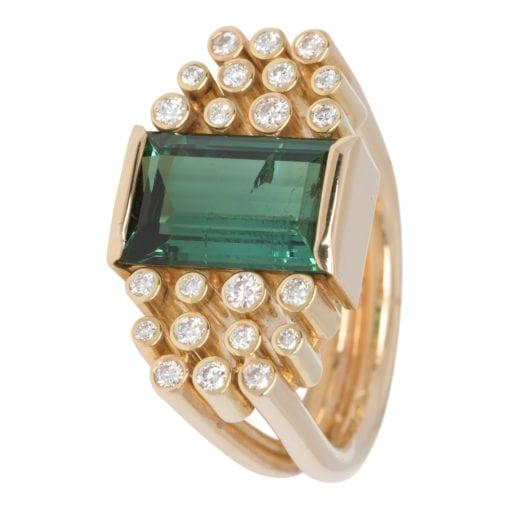 Geelgouden ring met Tourmalijn