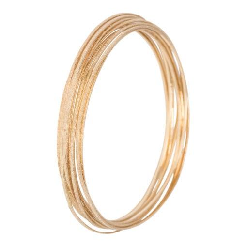 Geelgouden bewerkte armbanden