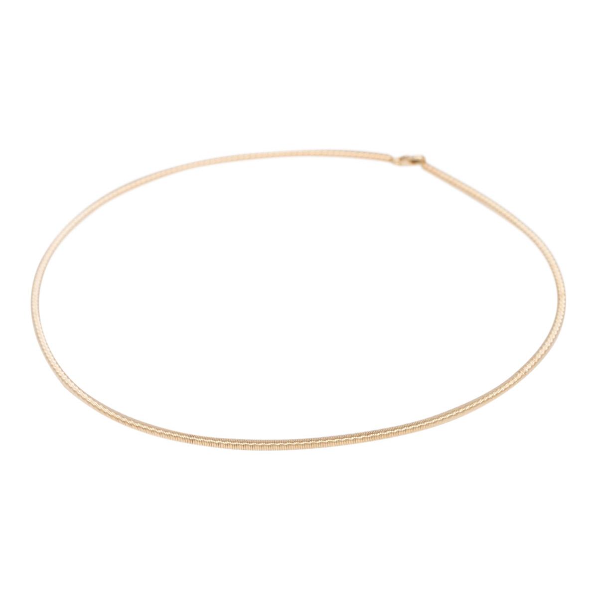 Geelgouden spiraal collier