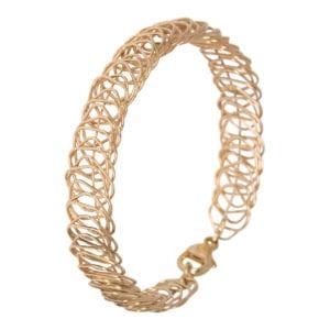 Geel gouden draadjes armband
