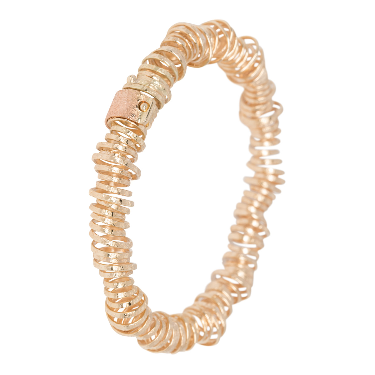 Geel gouden bewerkte armband