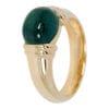Geel gouden ring met groene steen