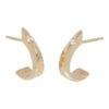 Geel gouden oorknoppen met diamantjes