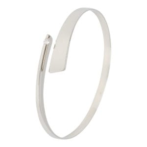 Wit gouden armband met briljant
