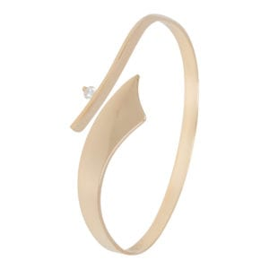 Geel gouden armband met briljant