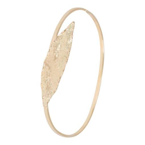 Geel gouden armband met blad