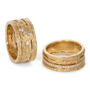 Ringen geelgoud bewerkt ZK-15416