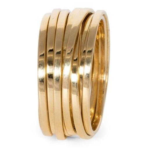 Ring draden geelgoud ZK-15474