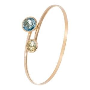 Armband geelgoud met kleurstenen ZK-15878