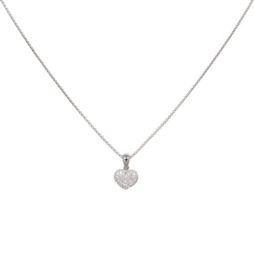 Pavé hanger hart witgoud ZR-15307