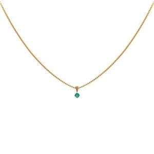 Hanger met Smaragd geelgoud R-13893